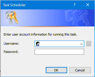 Enter user account information screenshot